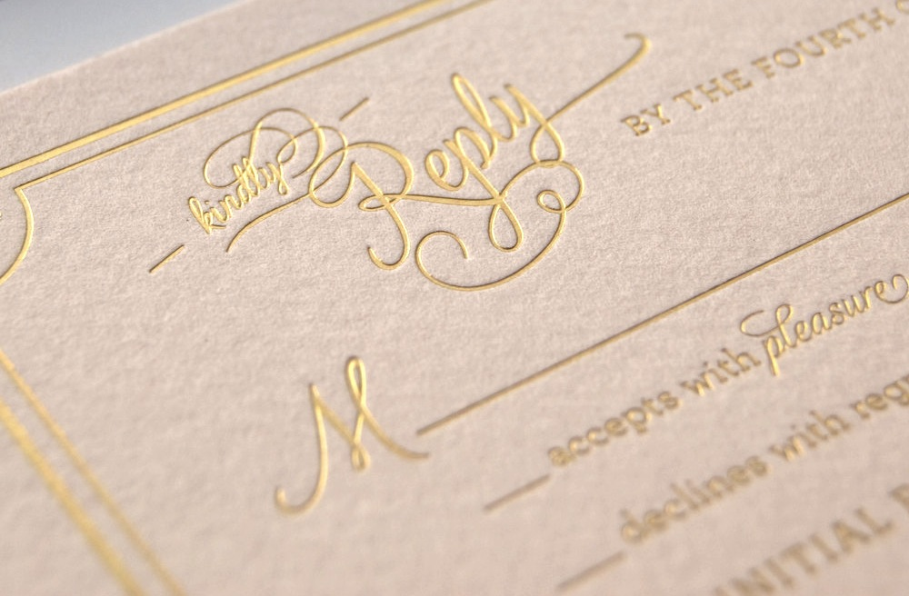 Best Letterpress Wedding Invitations: Gilded-wedding-invitations-etsy-weddings-stationery-soft